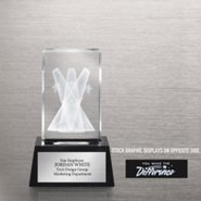 3-D Crystal Trophy - Spotlight: You Make the Difference